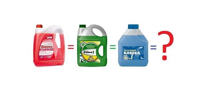 Можно ли смешивать антифриз разного цвета? Антифриз красный, зеленый, синий