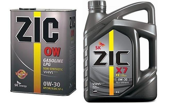 Канистры масла Zic 0w-30