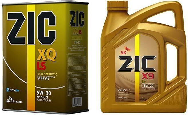 Канистры масла Zic xq и x9
